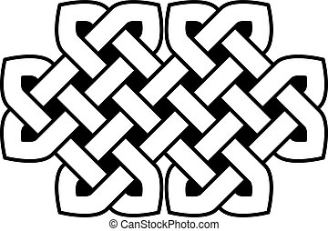 Celtic knot vector illustration (isolated on white...