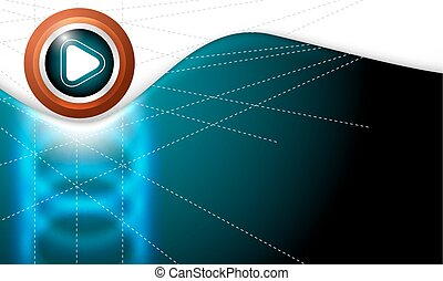 Vector abstract background with white play symbol