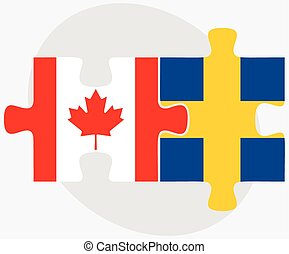 Canada and Sweden Flags