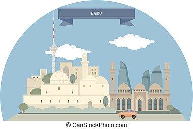 Baku,Azerbaijan - Baku, capital and largest city of...