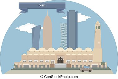 Doha, Qatar - Doha, capital city and most populous city of...