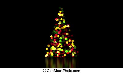 colorful christmas tree lights out