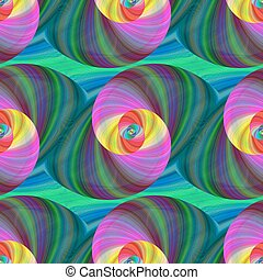 Computer generated swirl fractal pattern background design