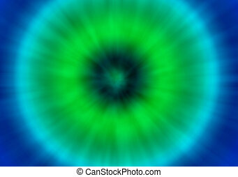 green and blue tie dye retro background - a green and blue...