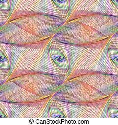 Seamless curved line fractal pattern background design
