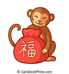 Chinese New Year Monkey - Chinese New Year 2016 Monkey with...