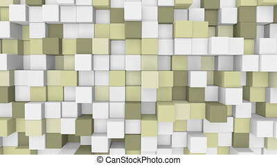 pale yellow 3D cubes loopable back - pale yellow 3D cubes...