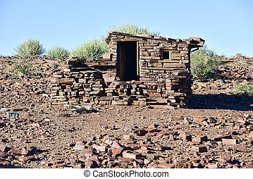 Fish River Canyon -Namibia, Africa - Abandoned house in the...