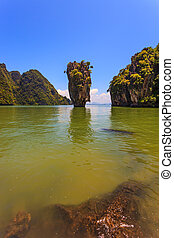 Freakish islands - James Bond's island in the form of a...
