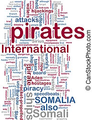 Somali piracy wordcloud - Word cloud concept illustration of...