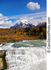 """Cascades Paine"" - South of Chile. Scenic powerful and..."