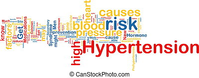 Hypertension wordcloud - Word cloud tags concept...