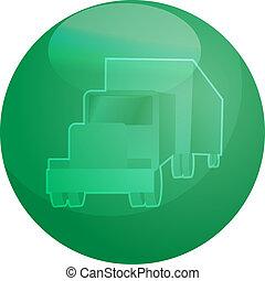 Truck land transport illustration