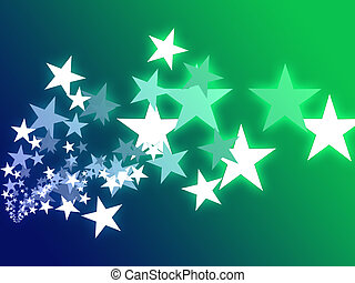 Flying stars illustration - Abstract geometric wallpaper...
