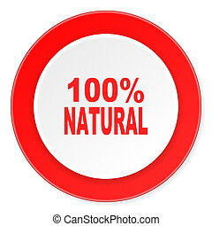 natural red circle 3d modern design flat icon on white...
