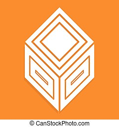 3d abstract cube symbol, icon Vector illustration