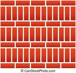 Repeatable brick wall background pattern with alternating...