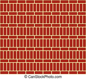 Repeatable brick wall background / pattern with alternating...
