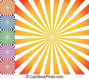 Starburst, Converger, Irradiar, líneas, Plano de fondo,  vector,  Sunburst