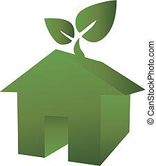 eco, verde, casa