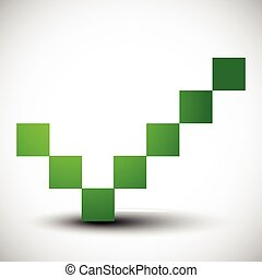 Green check mark, tick sign Correct, right, confirmation,...