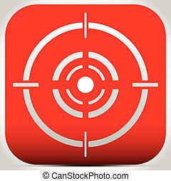 Cross hair, reticle, target mark editable vector.