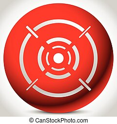 Cross hair, reticle, target mark editable vector