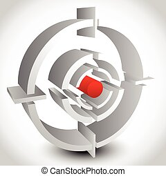 Cross hair, reticle, target mark editable vector