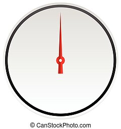 Circle dial, gauge template. Editable vector illustration.