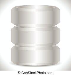 Metallic cylinders. Hard disk drive, HDD, server, hosting,...