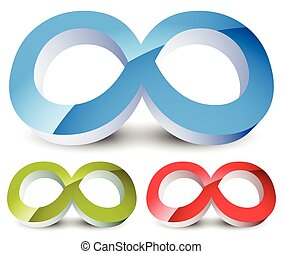 Infinity symbol Eeverlasting, infinite or cycle, continuity...