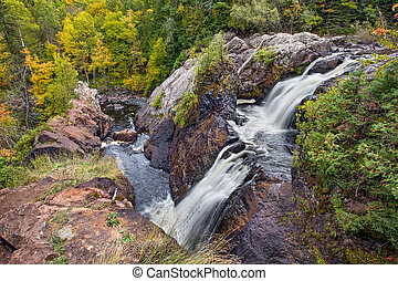 Gabbro Falls - Upper Peninsula Michigan's Black River pours...