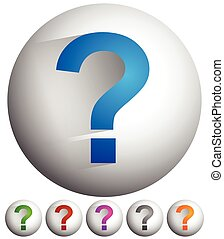 Question mark icon for related themes. Support, problem, questions, riddle, quiz, puzzlement, uncertainty.