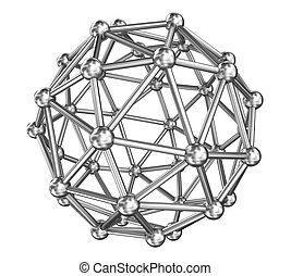Sphere molecule connect, steel model