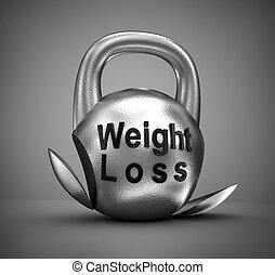 Weight loss concept over white