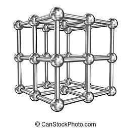 Cubic molecule connect, steel model
