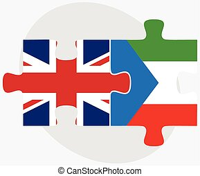 United Kingdom and Equatorial Guinea Flags in puzzle...