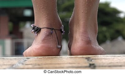 Female Swimmers Feet