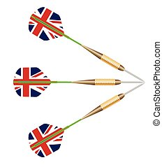 Darts With Union Jack Flag