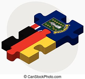 Germany and Virgin Islands (British) Flags in puzzle...