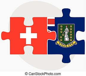 Switzerland and Virgin Islands (British) Flags in puzzle...