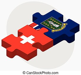 Switzerland and Virgin Islands British Flags in puzzle...