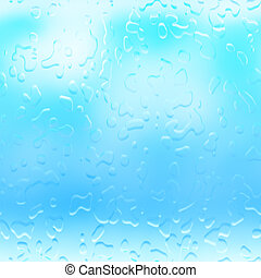 Water droplets raindrops background - Water droplets...