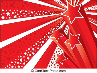 Stars Background vector - Shooting Stars Background