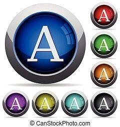 Font button set
