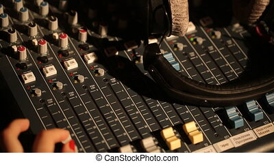sound music mixer control panel girl