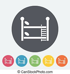 Bunk bed icon Flat vector related icon for web and mobile...