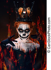 Queen of death, scary halloween female - Queen of death,...