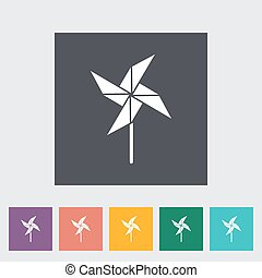 Whirligig icon Flat vector related icon for web and mobile...