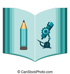 science book design, Science and education icons